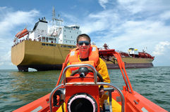 Rescue boat Royalty Free Stock Photo
