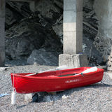 Rescue boat. Awaiting rescue during the summer months Stock Photography