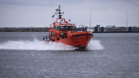 Rescue boat in harbour  Royalty Free Stock Photography