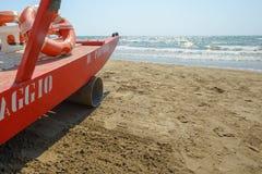 Rescue boat near sea stock photos