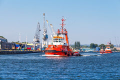The rescue boat. Stock Images