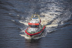 Rescue boat rs 142, horn flyer Stock Photo