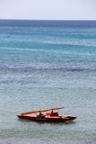 Rescue boat in a sunny day Royalty Free Stock Image