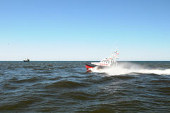 Rescue boat on water Stock Image