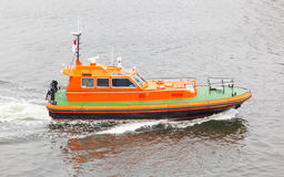 Rescue boat in the water Stock Photos
