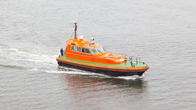 Rescue boat in the water Stock Images