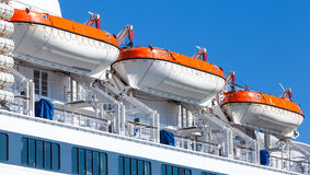 Rescue boats on big passenger ship Stock Photography
