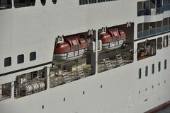 Rescue Boats, Cruise Ship Azamara Quest Royalty Free Stock Photography