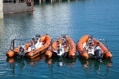 Rescue boats Royalty Free Stock Images
