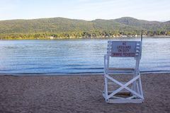 Rescue chair on Lake George, NY, USA Stock Images