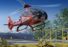Rescue Chopper Stock Photo