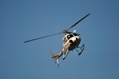 Rescue chopper. In flight, Westland, New Zealand Stock Images