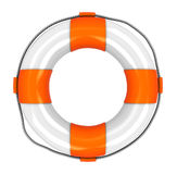 Rescue circle. 3d illustration of rescue circle isolated Royalty Free Stock Photo