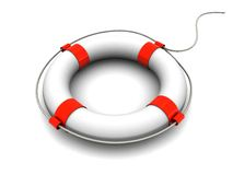 Rescue circle. 3d illustration of rescue circle over white background Royalty Free Stock Photos