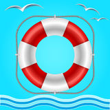 Rescue circle for help in water Royalty Free Stock Images