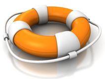 Rescue circle lifebuoy on white background Stock Photos