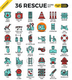 Rescue concept icons Stock Images