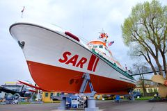 Rescue cruiser John T. Essberger - Museum Speyer Stock Images