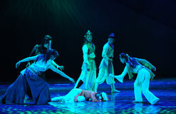 Rescue-The dance drama The legend of the Condor Heroes Royalty Free Stock Image