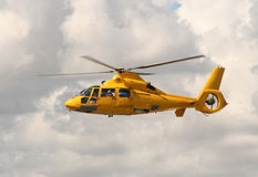Rescue Helicopter. In the air royalty free stock image