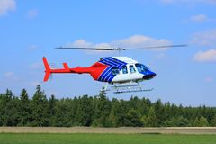 Rescue helicopter. Air-ambulance hospital help medical vector illustration