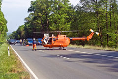 Rescue by Helicopter Royalty Free Stock Photography