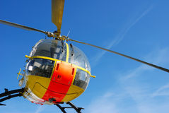 Rescue helicopter. Isolated at blue sky Stock Photography