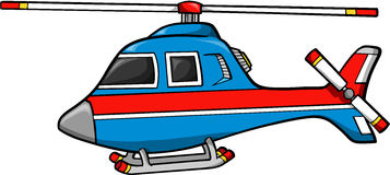 Rescue Helicopter. Super Hero Rescue Helicopter Vector Illustration Royalty Free Stock Photo