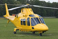 Rescue Helicopter. At airport Royalty Free Stock Images