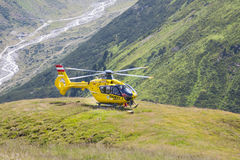 Rescue Helicopter in Austria, editorial Stock Photo