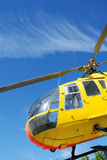 Rescue helicopter canopy Royalty Free Stock Images