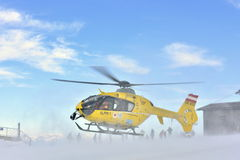 Rescue Helicopter, Carinthia, South Austria Royalty Free Stock Images