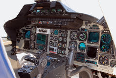 Rescue helicopter cockpit Royalty Free Stock Image