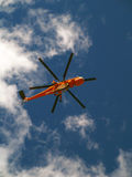 Rescue Helicopter in flight Stock Photo