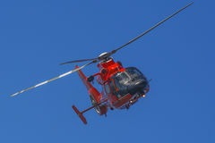 Rescue Helicopter in flight royalty free stock image