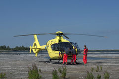 Rescue helicopter. royalty free stock images