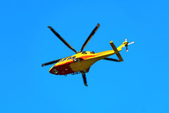 Rescue Helicopter in Italian Alps Royalty Free Stock Images