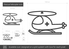 Rescue helicopter line icon. Royalty Free Stock Photo