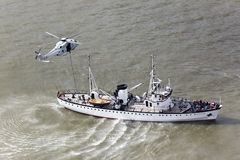 Rescue helicopter navy Royalty Free Stock Photography