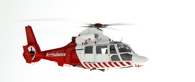 Rescue helicopter. Over white background royalty free illustration
