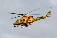 Rescue helicoptre in the air Stock Images