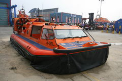 Rescue hovercraft at maintenance base Stock Photography