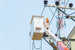 Rescue Hydraulic Platform Stock Photo