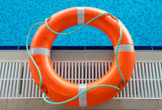 Rescue In Swimming Pool Royalty Free Stock Photo