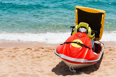 Rescue jetsky on beach Royalty Free Stock Images
