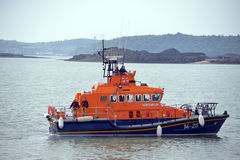Rescue lifeboat in cobh harbour Royalty Free Stock Images