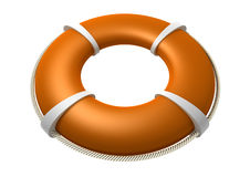 Rescue Lifebuoy Orange Royalty Free Stock Photos
