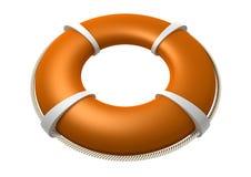 Rescue Lifebuoy Orange Royalty Free Stock Photos