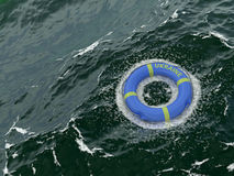 Rescue lifebuoy for ukraine. Abstract rescue lifebuoy for ukraine Royalty Free Stock Photos