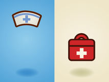 Rescue , medical , health care , support, volunteer icon in flat Stock Photo